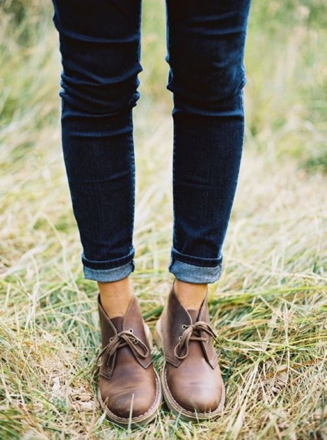 clark's Desert boots and cuffed jeans - favorite