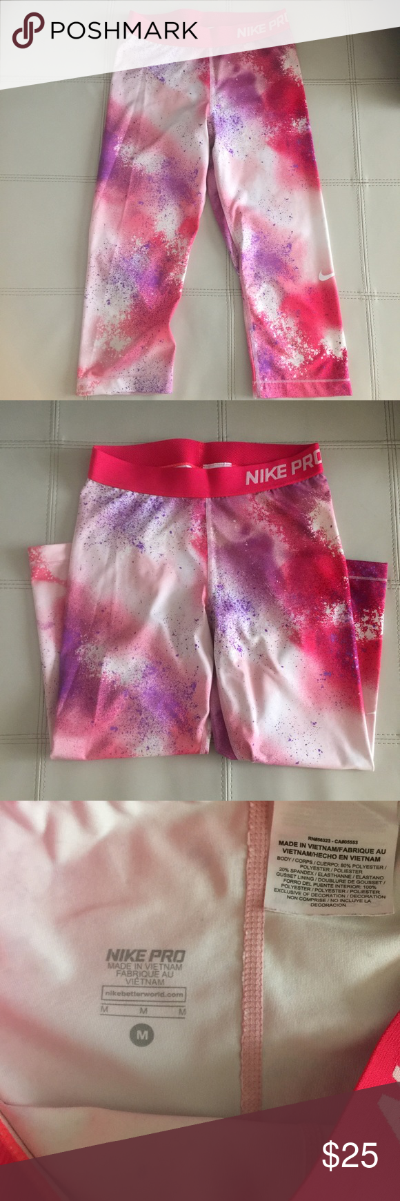 NIKE PRO Capri Leggings Size Medium Nike Pro Capri leggings. Size Medium. New without tag attached. Nike Pants Leggings