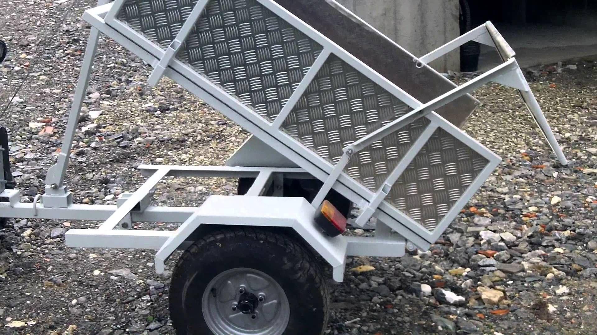 remorque quad basculante avec un treuil 12V   QUAD ...