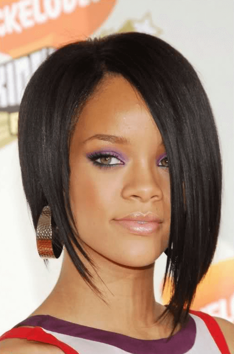 Asymmetrical Bob Frisur Rihanna Lovely Rihanna Short Hair