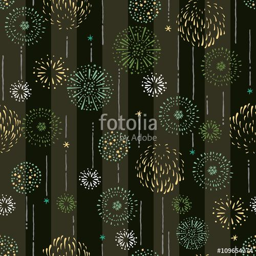 ベクター: Repeat design / Pattern / Fireworks / Vector illustration点