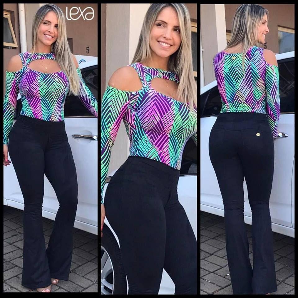 6d058a5d1 Calça Flare Suede Preto na Lexafitwear. | Look Casual