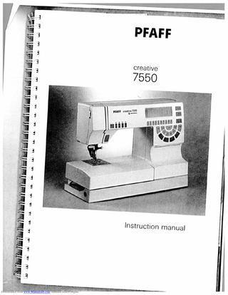 Pfaff 7550/1475 pc designer software original manual excellent pre.