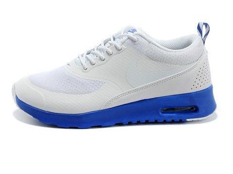 Livraison rapide Nike Air Max Thea Homme Chaussures Blanche Sapphire Bleu  France Vente