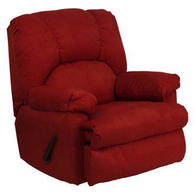 Flash Furniture Montana Microfiber Suede Rocker Recliner Garnett - WM-8500-265-GG, Durable