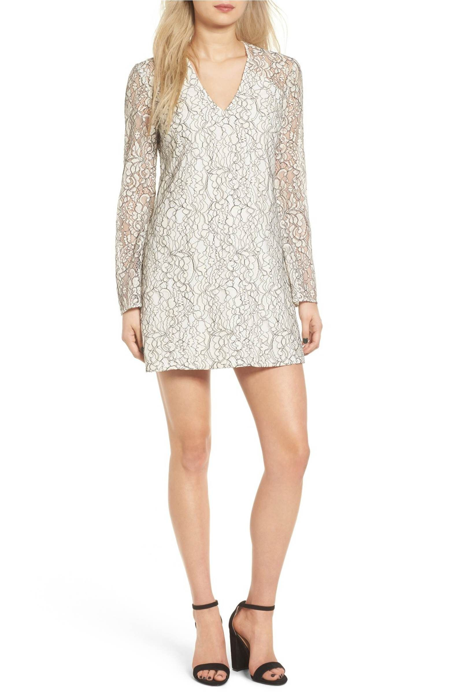 Wayf Lace Bell Sleeve Shift Dress Wishlist Random