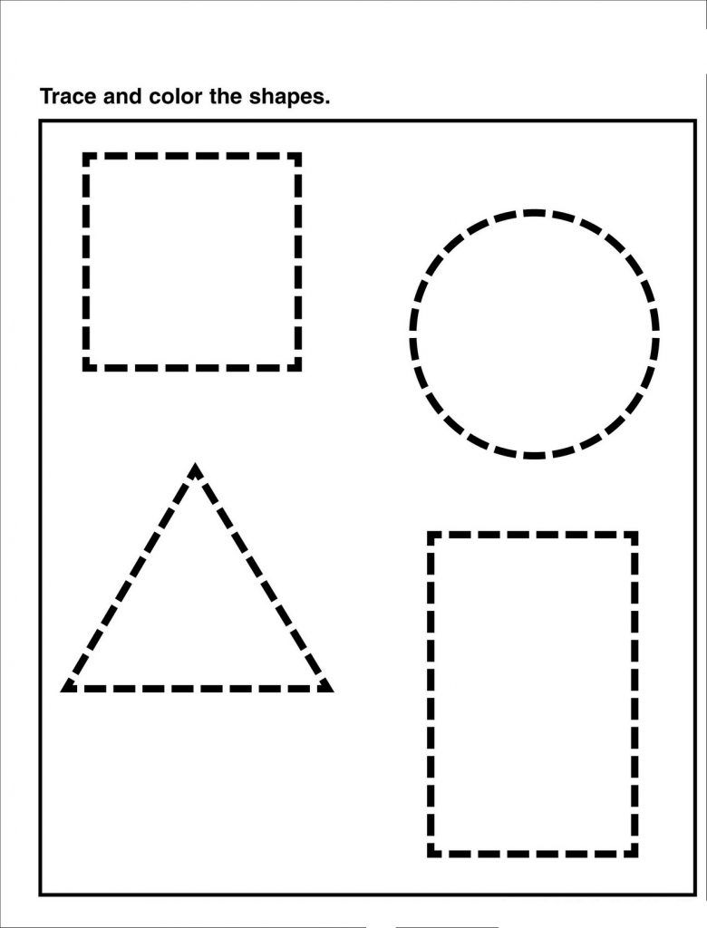 Preschool Tracing Pages Shape Tracing Worksheets Shape Worksheets For Preschool Tracing Worksheets Preschool