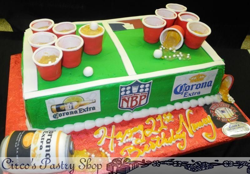 Beer Pong Table Cake That Was So Made For You With Images