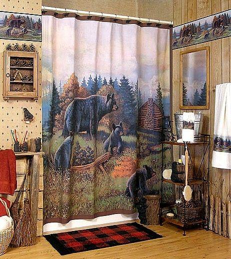 Bear Themed Decor Black Bear Lodge Bath Bathroom Accessories For