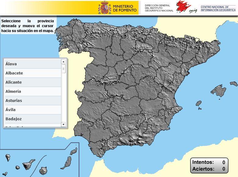 Mapa Provincias España Interactivo.Puzzle Interactivo De Las Provincias De Espana Selecciona