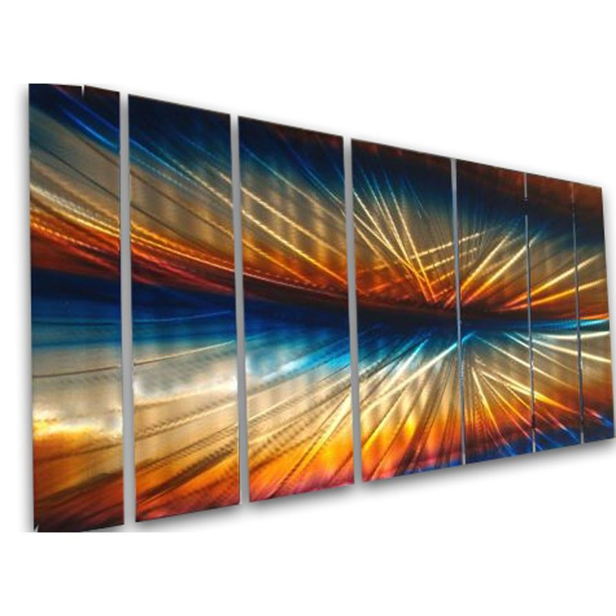 All My Walls Abstract By Ash Carl 3 Dimensional Metal Wall Art In Multi 23 5