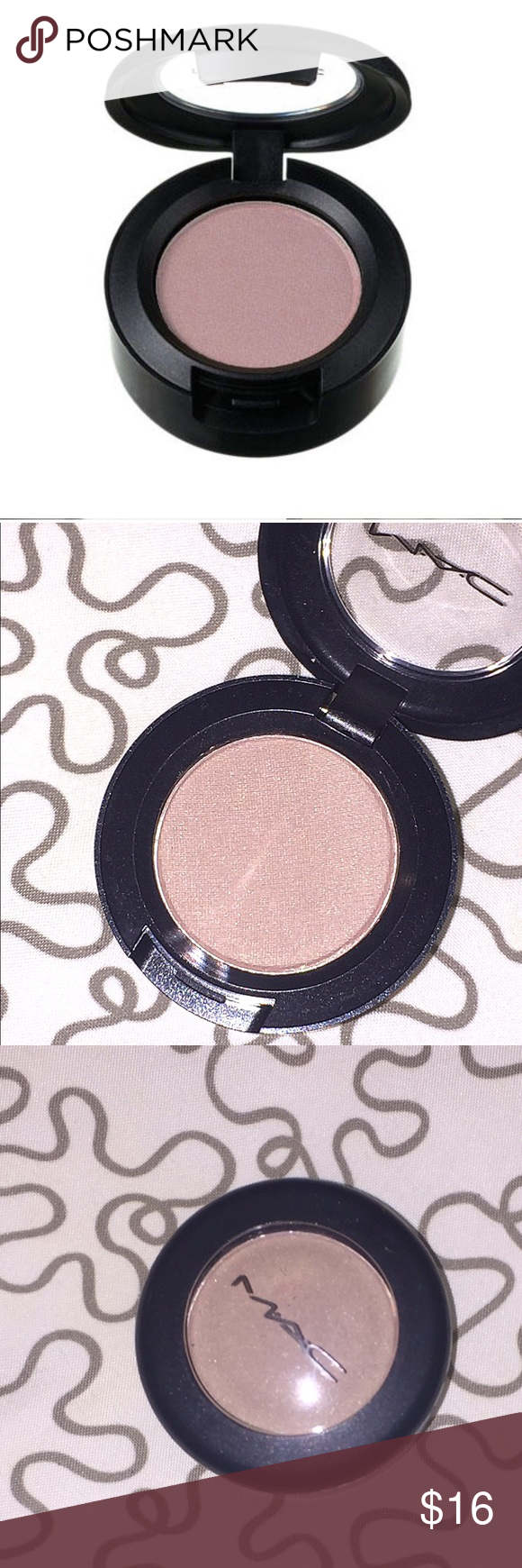 Full-Size MAC eyeshadow in LYRIC New and never used or swatched! Just opened for photo purposes. Neutral color that is great for any skin tone! 💋Bundle and Save! 💋 MAC Cosmetics Makeup Eyeshadow