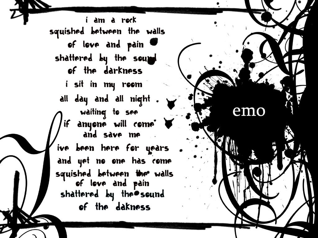 Emo Love Poems Emo Love and Pain poem HD Desktop wallpaper LOVE Pinterest Sad emo quotes ...