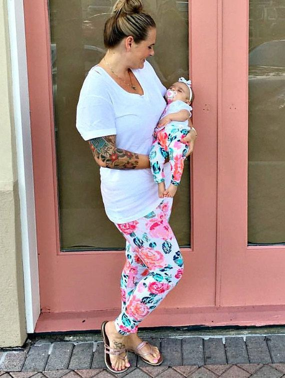 mom and daughter outfits set of 2 yoga pants for mom and baby mommy and me matching leggings mothers day gift for new mom