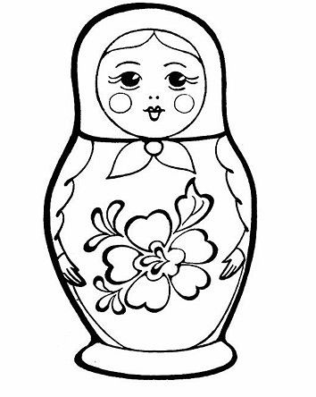 Pin By Haj On Rasskraski Coloring Pages Matryoshka Free Coloring Pages