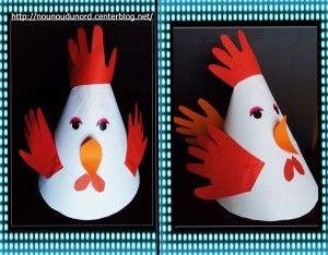 cone shaped hen craft