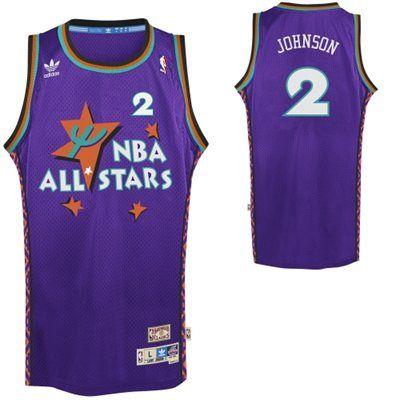 adidas Larry Johnson Retro 1995 All-Star East Soul Swingman Jersey - Purple