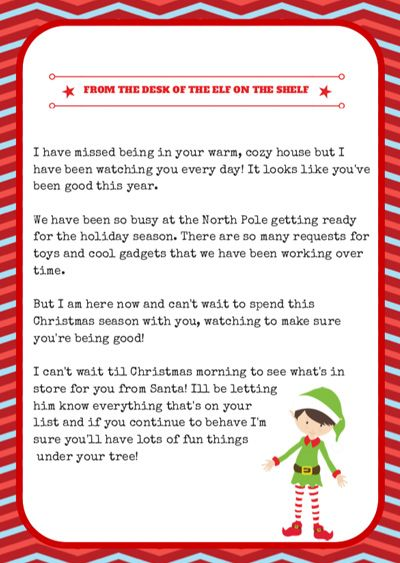 The COMPLETE INDEX of Elf on the Shelf FREE ARRIVAL LETTERS!