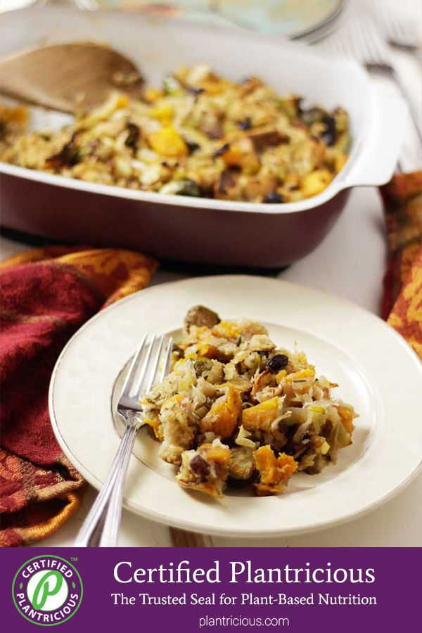 Butternut Squash, Brussels Sprouts, Apple Stuffing