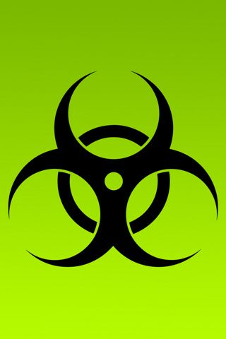 Biohazard Logo On Green Background Graphic Iphone Wallpaper Cool