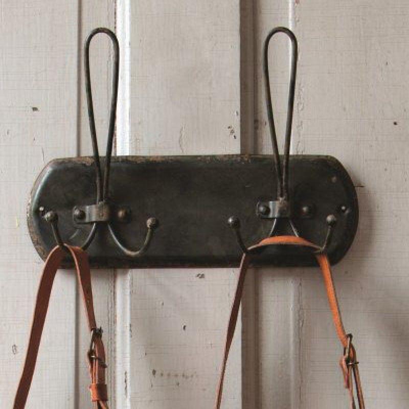Distressed Black Vintage Style Wire Coat Hooks