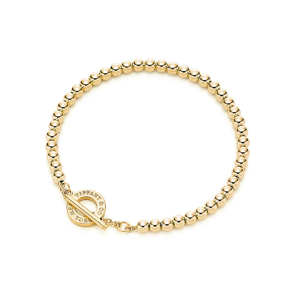 5ddb1d10f Tiffany Beads toggle bracelet in 18k gold, medium. | Tiffany & Co ...