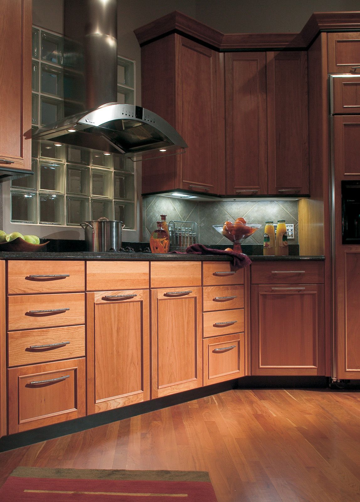 Cherry Wood Kitchen Cabinets Dura Supreme S Bria Cabinetry Shown