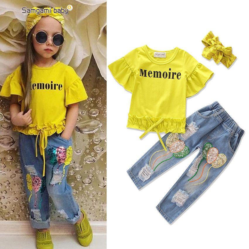 US Stock Toddler Baby Girls Boy T-shirt+Pants Leggings 2pcs Outfits Set Clothes