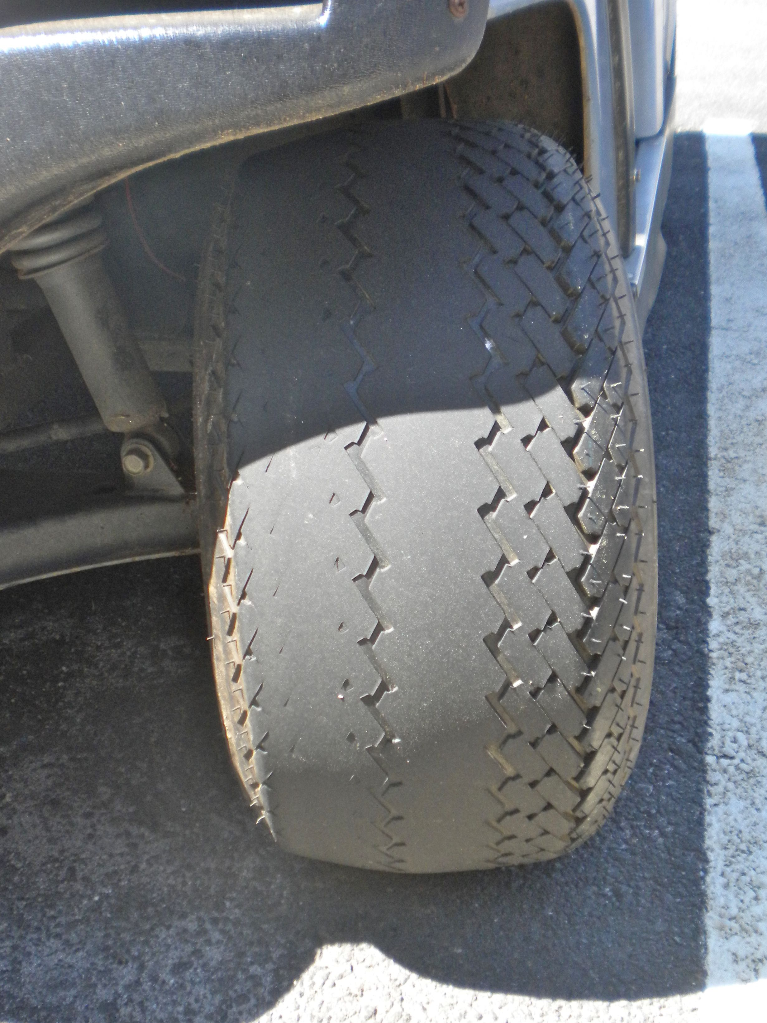 I Recently Noticed That The Tire Wear On The Front Tires Of My Golf Cart Was Different From The Rear Tires Tire Wear Can Be A Normal Condition Or It M