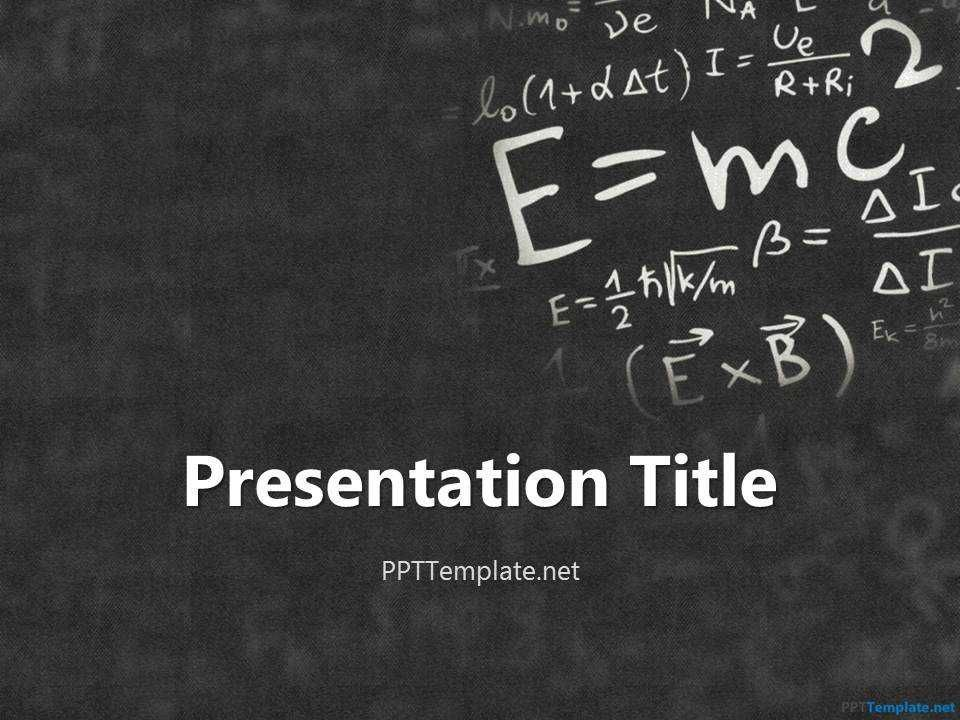 Free Physics Ppt Templates Ppt Template On Physics Powerpoint