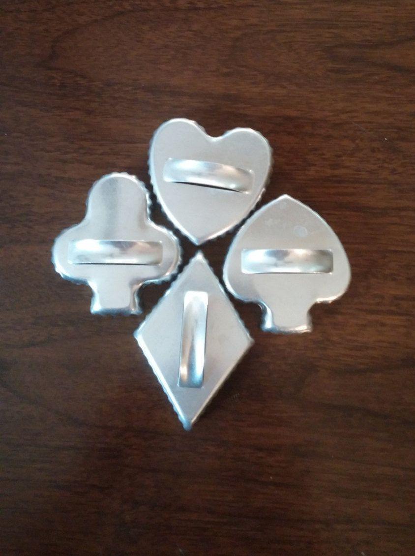 Aluminum cookie cutters vintage aluminum cookie cutters card suit