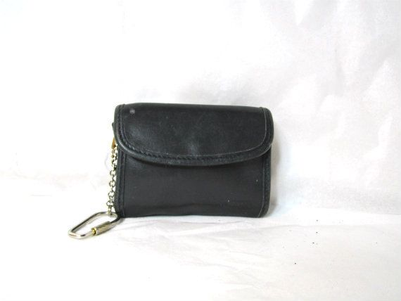 Coach Leather wallet Change purse womens wallet. with Key Fob