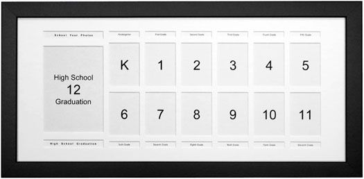 Large Personalized Jumbo Wallet School Years Picture Frame School