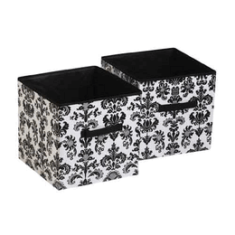 Superior Damask Storage Cubes   Set Of 2 In Black And White By Room.