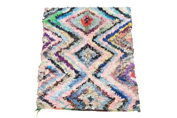 Boucherouite Rug | Vinterior London  #rug #textile #vintage #1970s #design #home #interiors