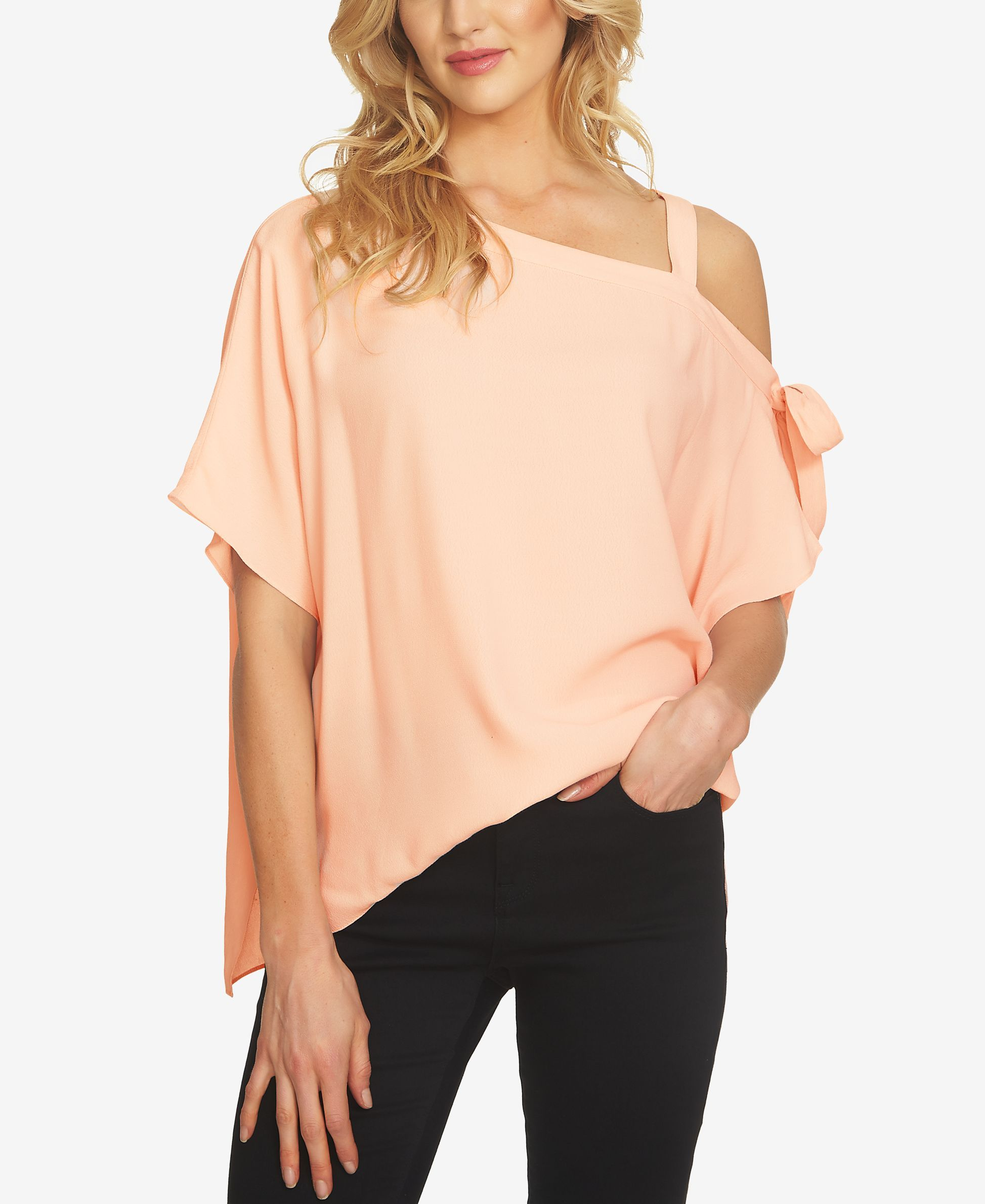 132a53b9cbf421 1.state One-Shoulder Tie-Detail Top One Shoulder Tops