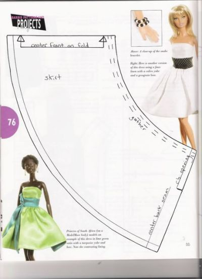 Selective image regarding barbie dress patterns free printable pdf
