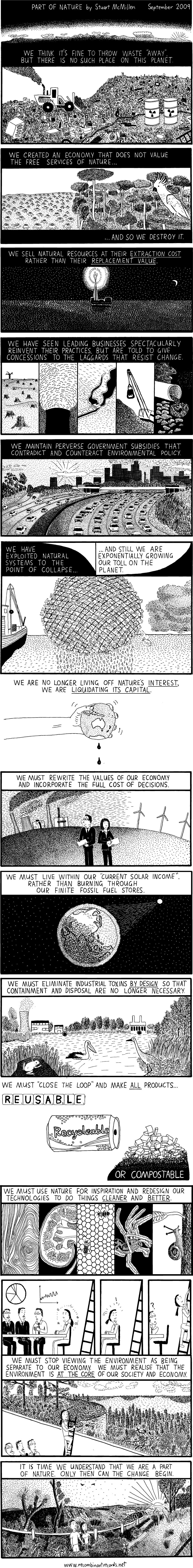 Part of Nature cartoon