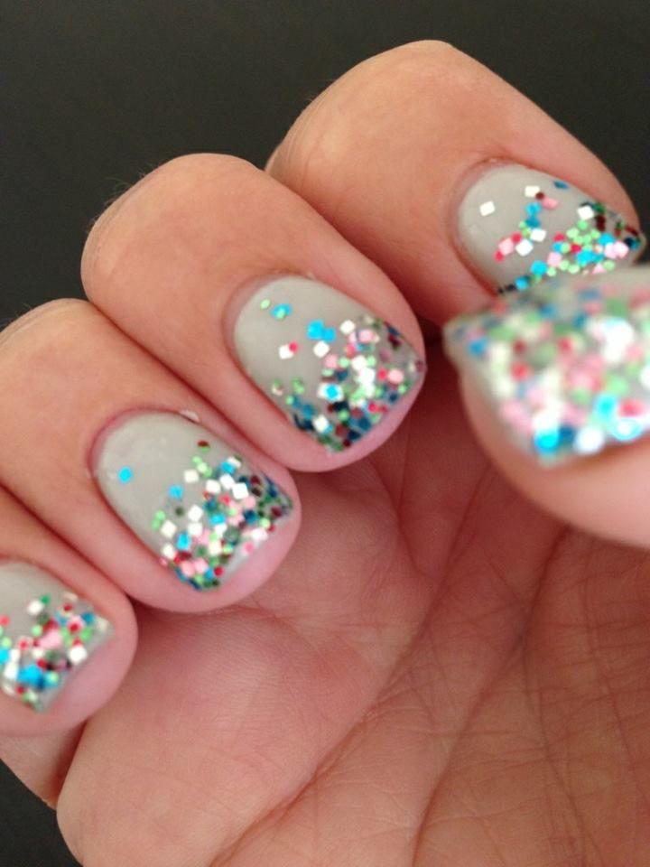 Multicolor Glitter Nails - Google Search