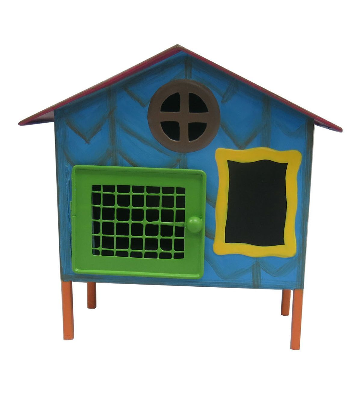 Fairy Garden Metal House With Red Roof