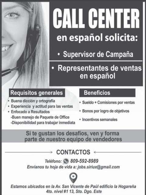 Call Center Con Ofertas De Empleos Ofertas De Empleo Empleos En