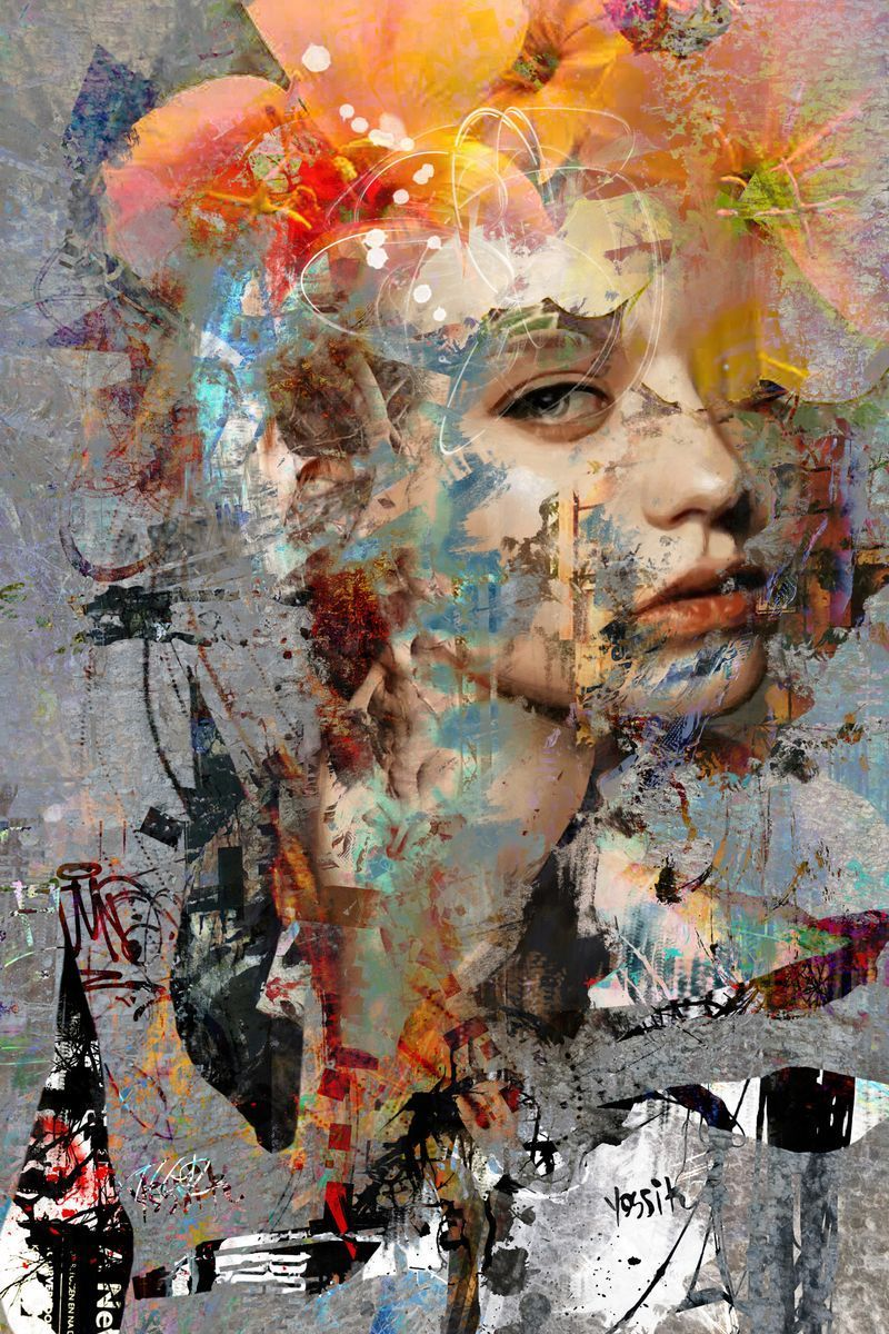 Buy surrender to your form, Acrylic painting by yossi kotler on Artfinder.