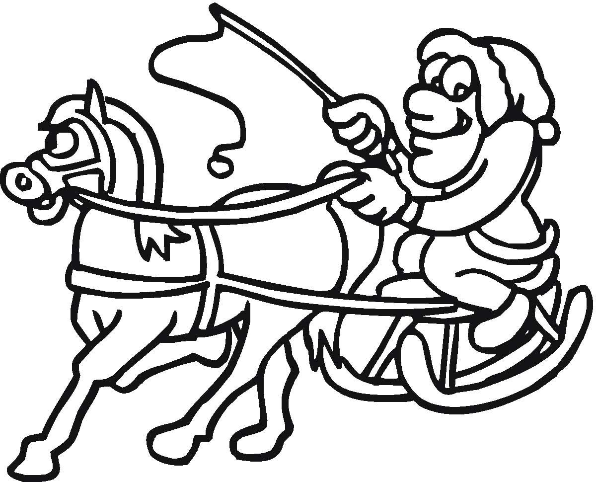 Horse Pulling Santa In Sleigh Coloring Page Horse Coloring Pages Coloring Pages Animal Coloring Pages [ 970 x 1200 Pixel ]