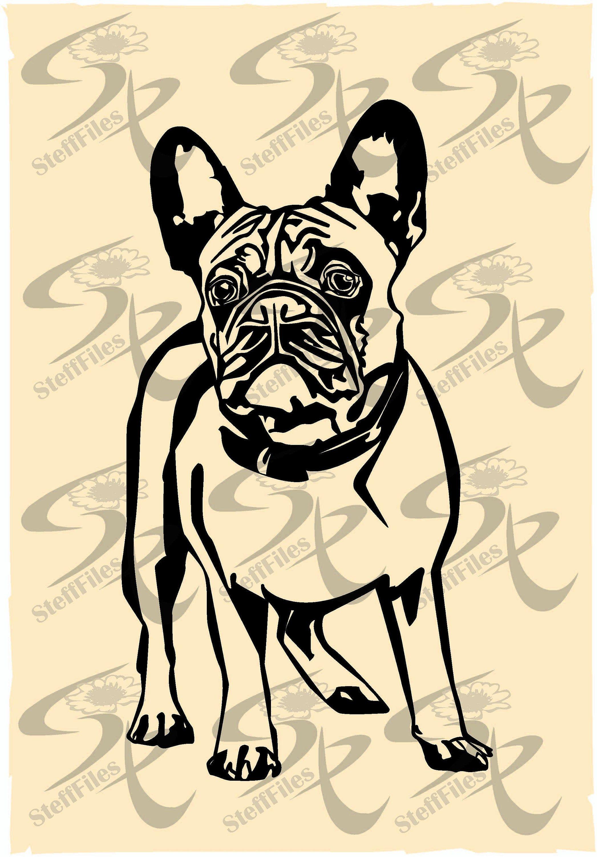 French Bulldog Heart Love Clipart Valentines Vector Dog Etsy Animal Art Downloadable Art Bulldog