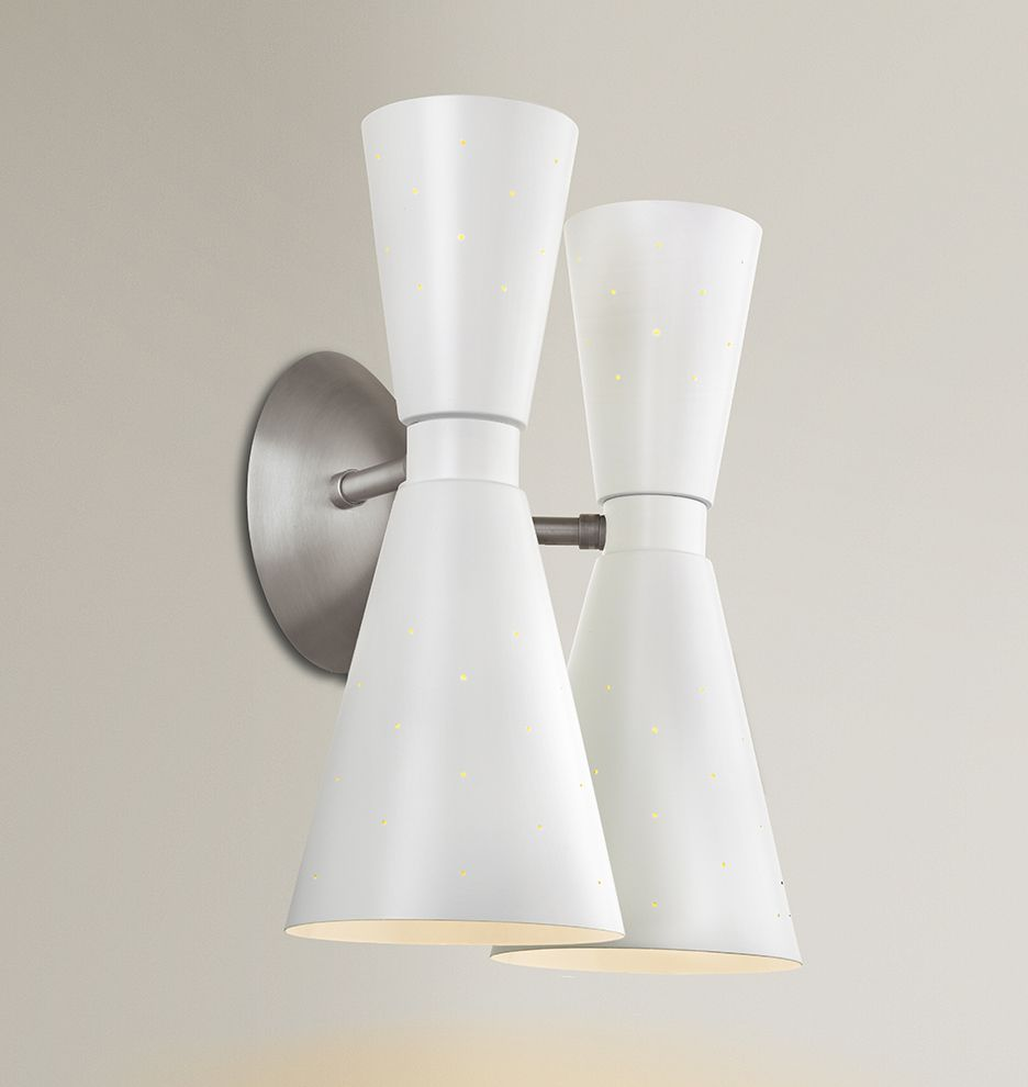 Galaxy Double Sconce Mid Century Modern Double Wall Sconce A1616. Bathroom  ...