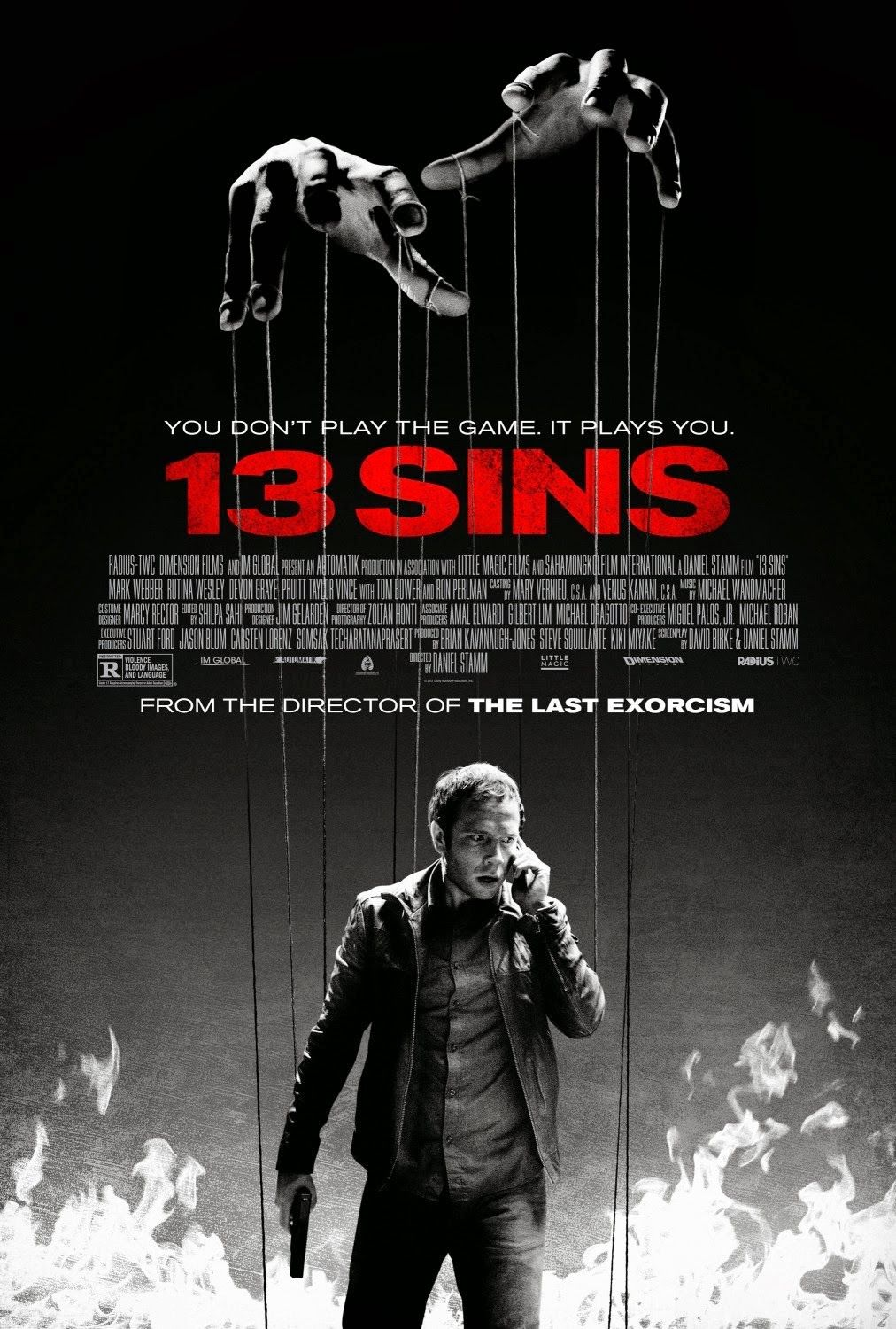 13 Sins 2014 Horror Thriller Comedy Movie Directed By Daniel