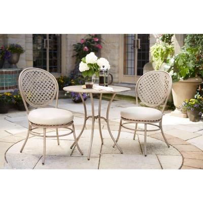 Lovely Hampton Bay French 3 Piece Patio Bistro Set D11117 3PC   The Home