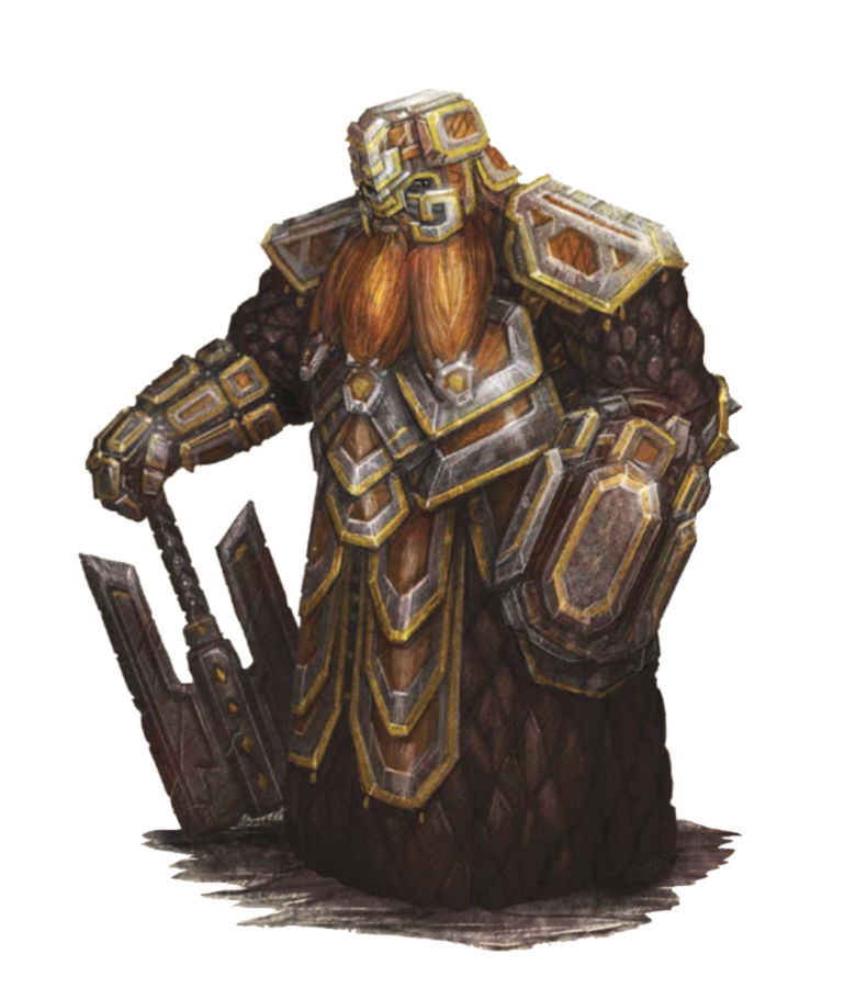 Male Dwarf Fighter Stonelord Paladin - Pathfinder PFRPG DND