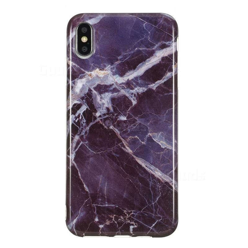 Gray stone marble clear bumper glossy rubber silicone