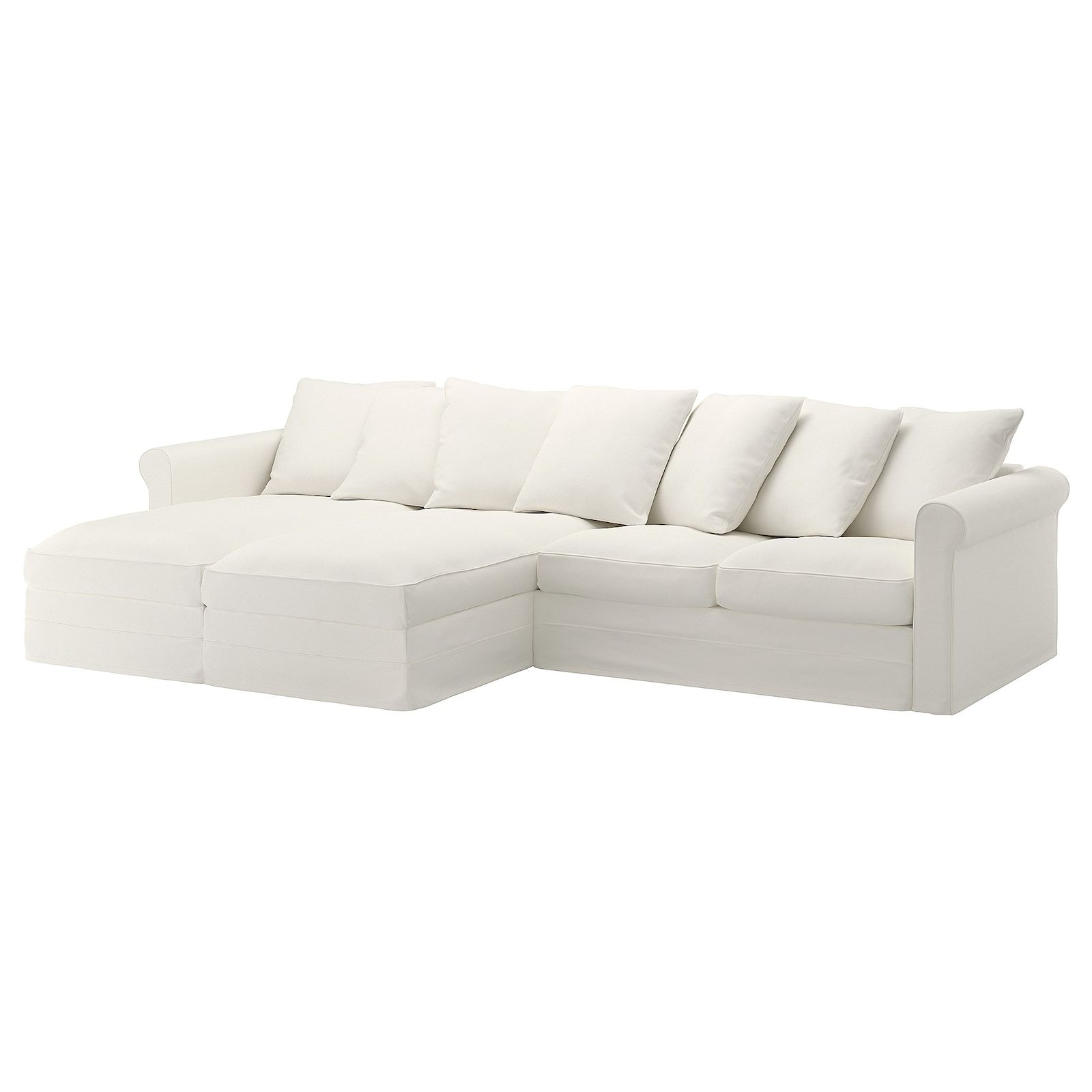 Harlanda Sectional 4 Seat With Chaise Inseros White Shop Here Ikea In 2020 Sofa Armchair Sectional Sofa